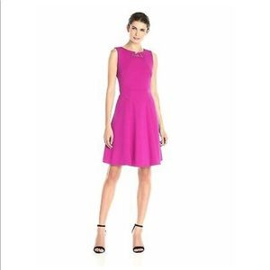 Ivanka Trump Jewel Neck Line Fucsia Dress